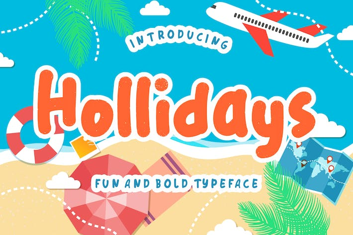 Thumbnail for Hollidays Fun Children Typeface