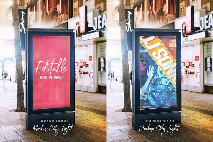 City Light Board Poster Mockup 06