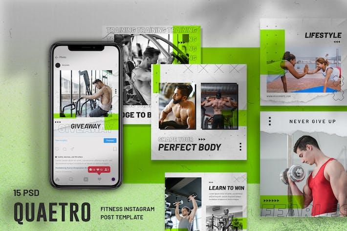 Thumbnail for Quaetro - Fitness Instagram Post Template