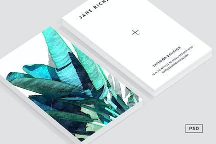 Banana Leaf Business Card Template