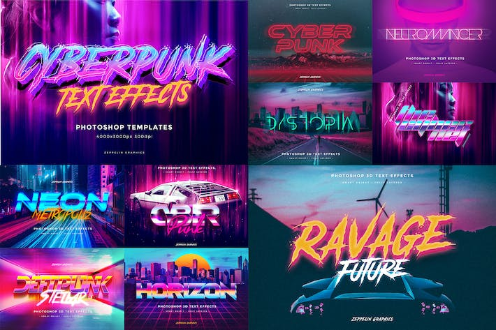 Thumbnail for Cyberpunk 80s Text Effects