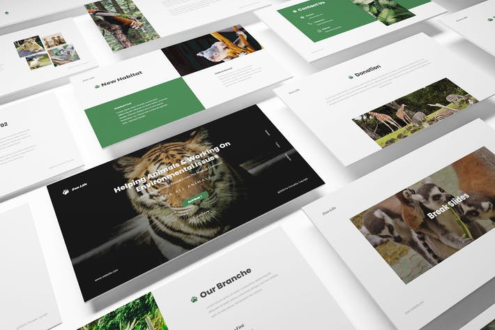 Thumbnail for Zoo Powerpoint Template