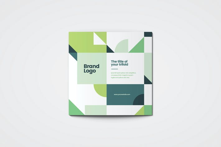 Cover Image For Square Modern Green Architecture Trifold
