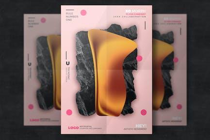 Poster design abstrait
