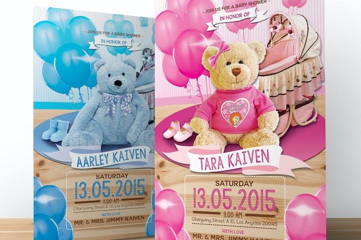 Thumbnail for Baby Shower Invitation (Boy & Girl)