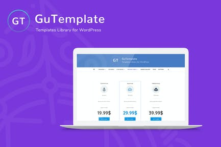 GuTemplate - Pro Templates Library for WordPress