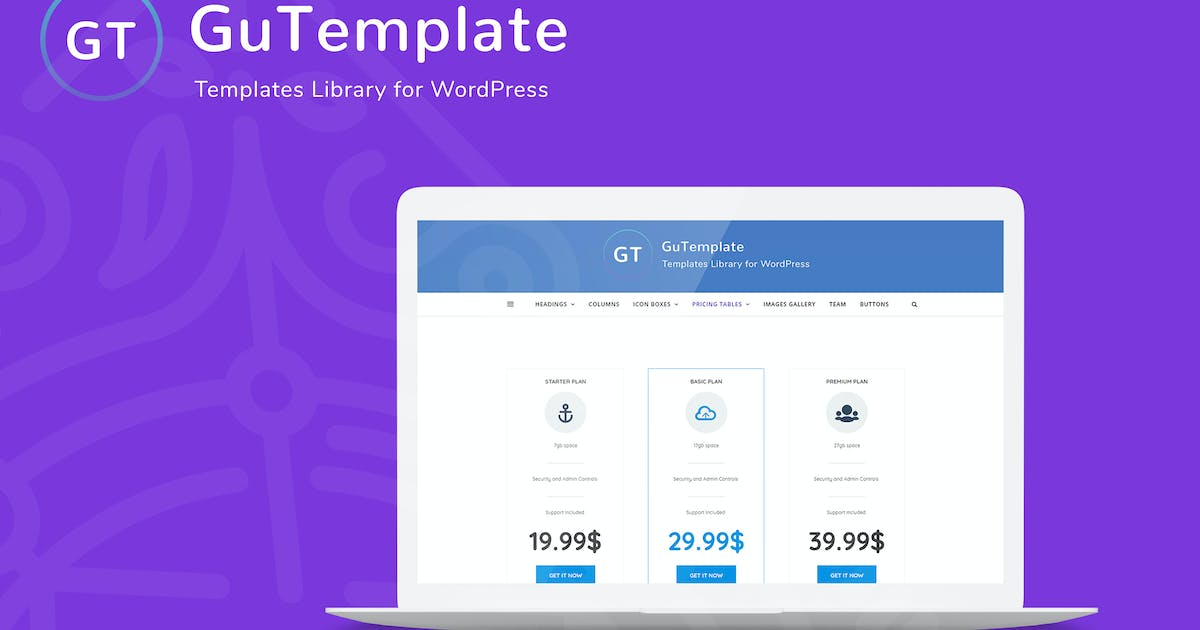 Download GuTemplate - Pro Templates Library for WordPress by AA-Team
