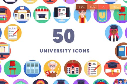 50 University Icons