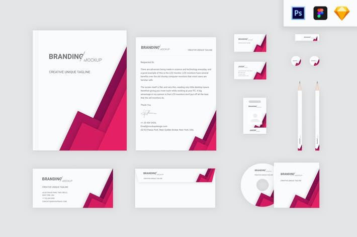 Thumbnail for Branding Identity - Material Triangle