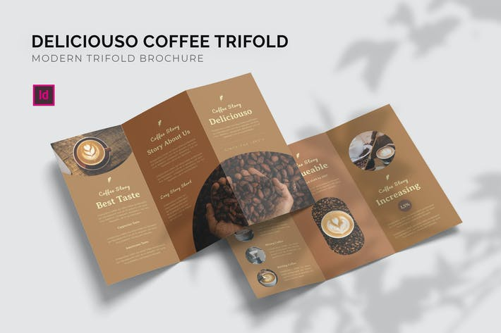 Thumbnail for Deliciouso Coffee - Trifold Brochure