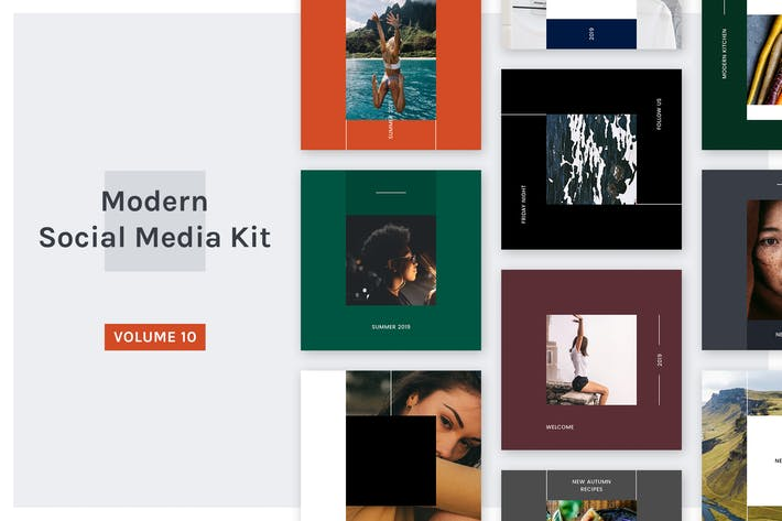 Thumbnail for Modern Social Media Kit (Vol. 10)