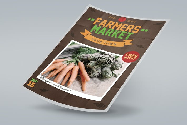 Thumbnail for Affiche Farmers Market dépliant