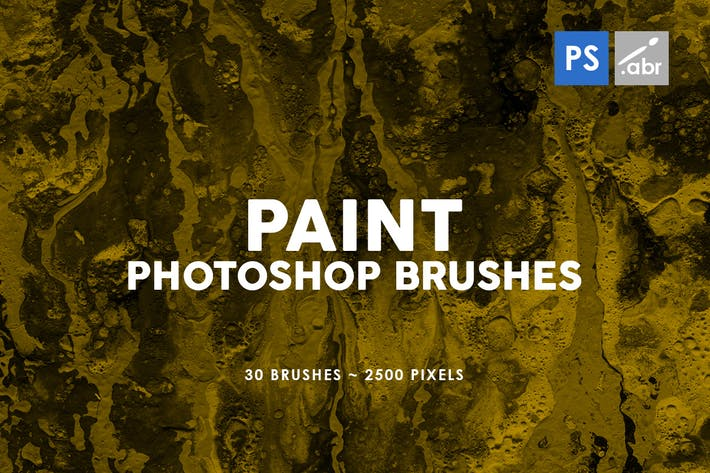 Thumbnail for 30 Paint Texture Photoshop Brushes Vol. 2