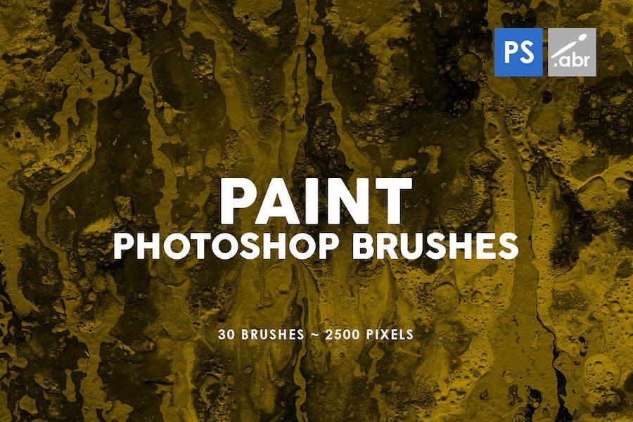 30 Paint Texture Photoshop Brushes Vol. 2
