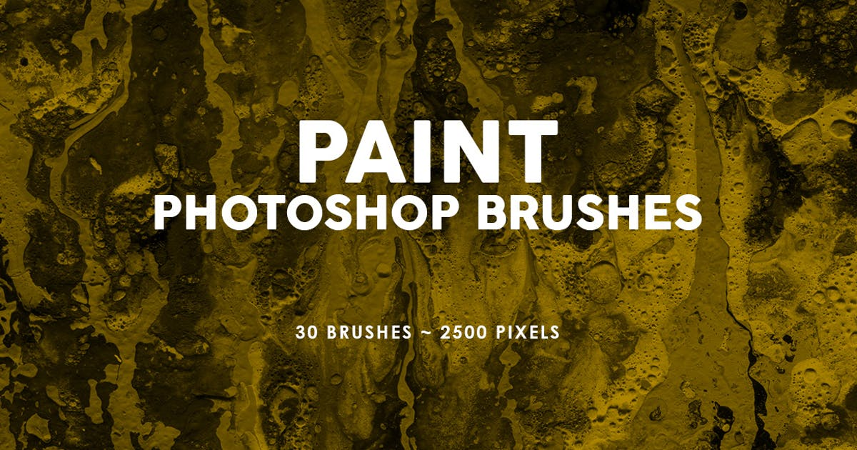 Download 30 Paint Texture Photoshop Brushes Vol. 2 by M-e-f