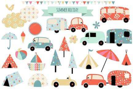 Summer Holiday Illustrations