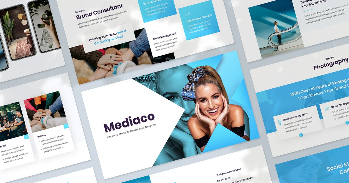 Download Influencer & Content Creator Keynote Template by Krafted
