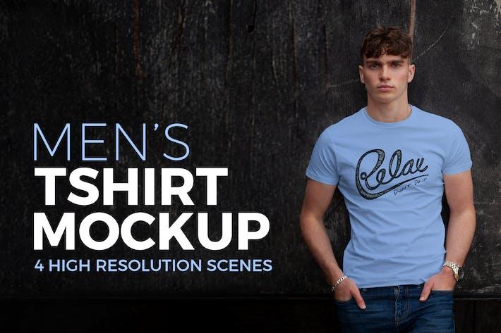 Thumbnail for Herren T-Shirt Mockup