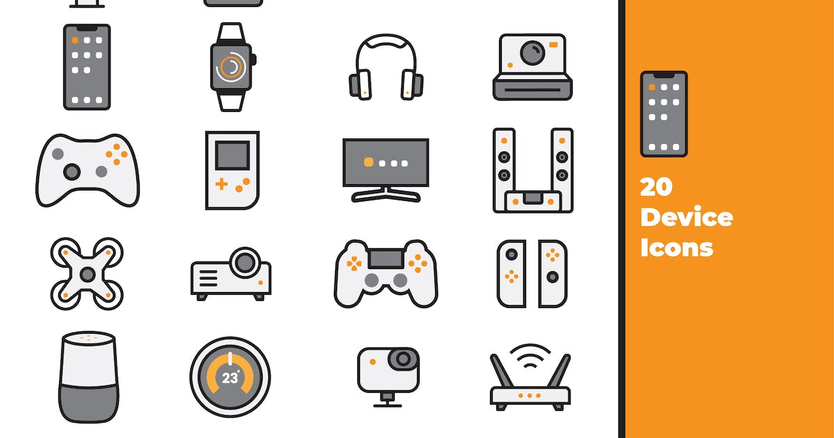 Download Device Icons by EvoriaDesign