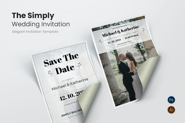 Simply Wedding Invitation
