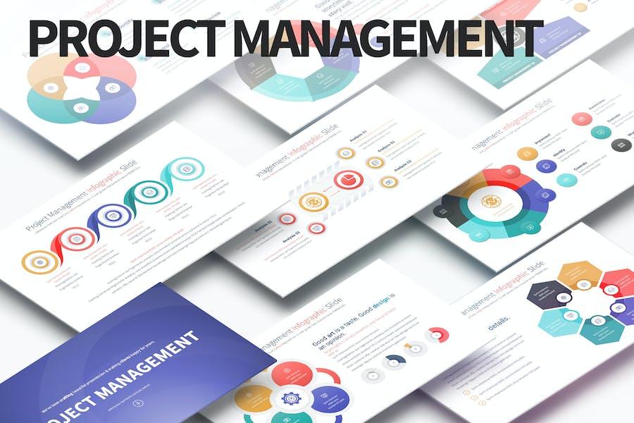 Управление проектами — слайды Инфографика PowerPoint