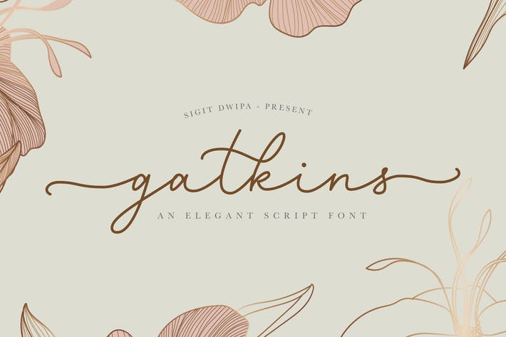 Cover Image For Gatkins - Signature Font