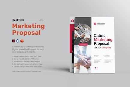 Digital Marketing Proposal Ms Word / PPT