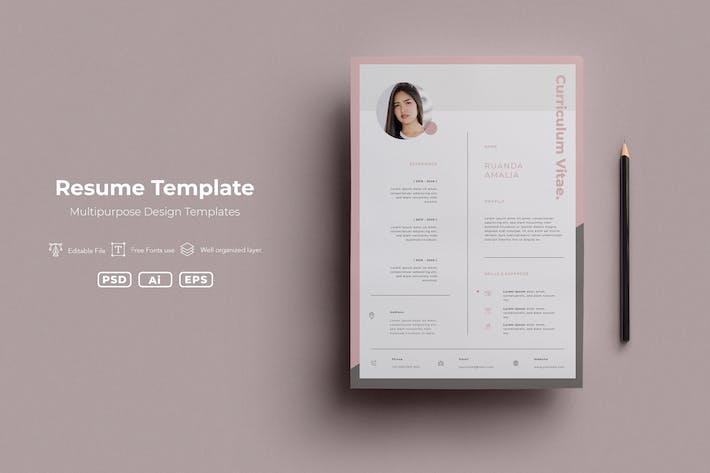 Thumbnail for SRTP - Resume Templates.v01