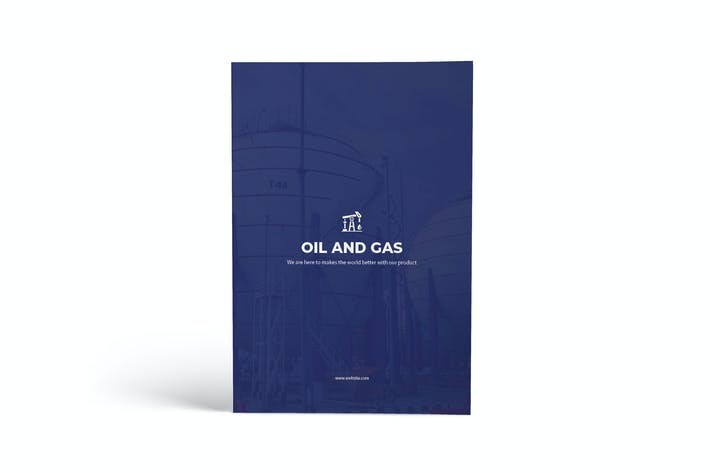 Thumbnail for Oil & Gas A4 Brochure Template