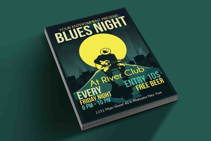Thumbnail for Blues Night Flyer