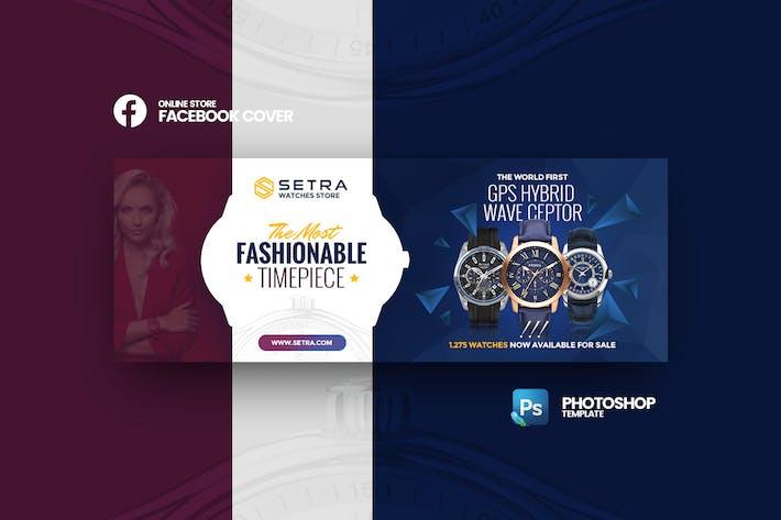 Thumbnail for Setra - Интернет-магазин Шаблон обложки Facebook