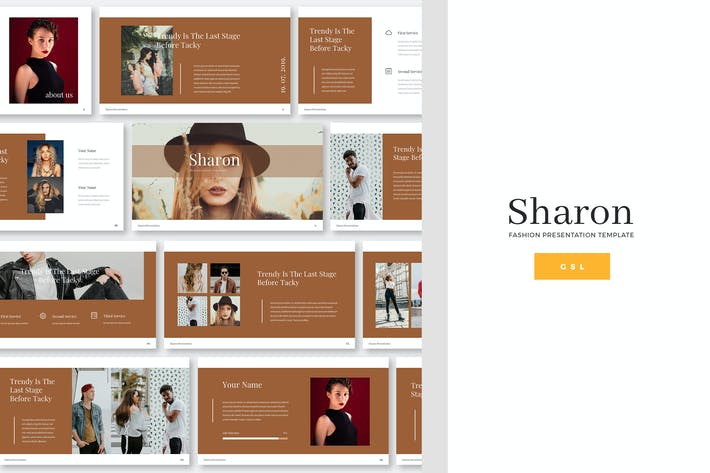 Thumbnail for Sharon - Fashion Google Slides Template