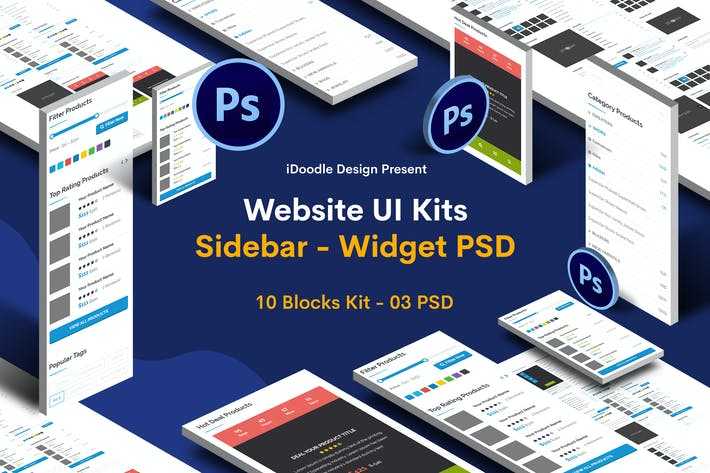 Thumbnail for Website Widgets - Sidebar UI Kits