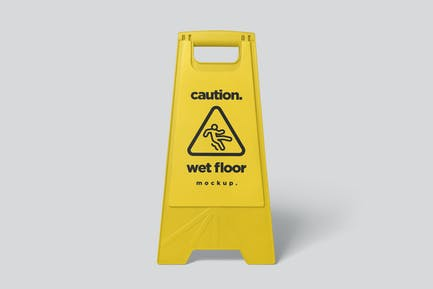 Caution Board Mockups