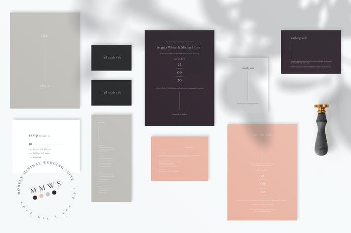 Thumbnail for Modern Minimal Wedding Suite AE
