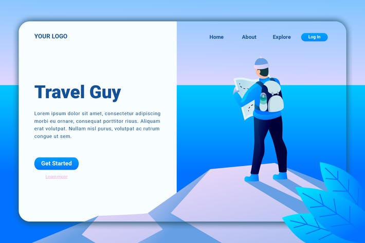 Thumbnail for Путешествие Парень - Landing Page