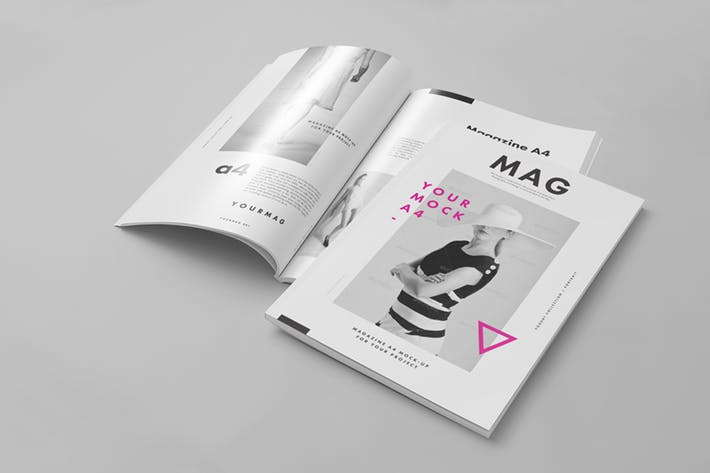 Thumbnail for A4 Magazine Mock-up 2
