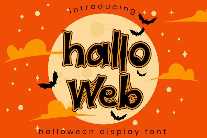 Thumbnail for Halloweb - Halloween Font
