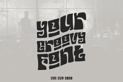 Your Groovy Font - Retro psicodélico 70s fuente