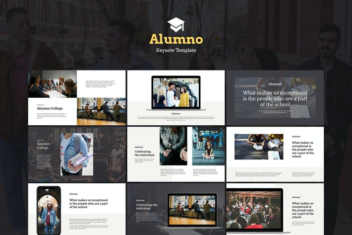 Thumbnail for Alumno - Education & Course Keynote Template