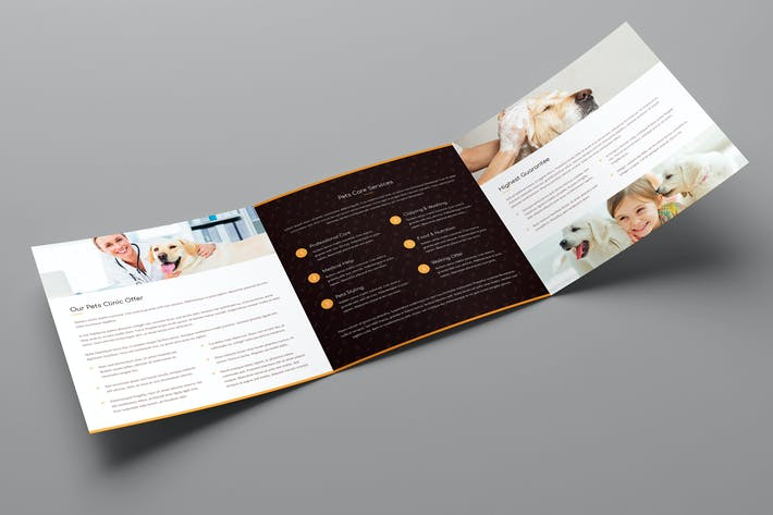 Thumbnail for Brochure – Pets Care Tri-Fold Square