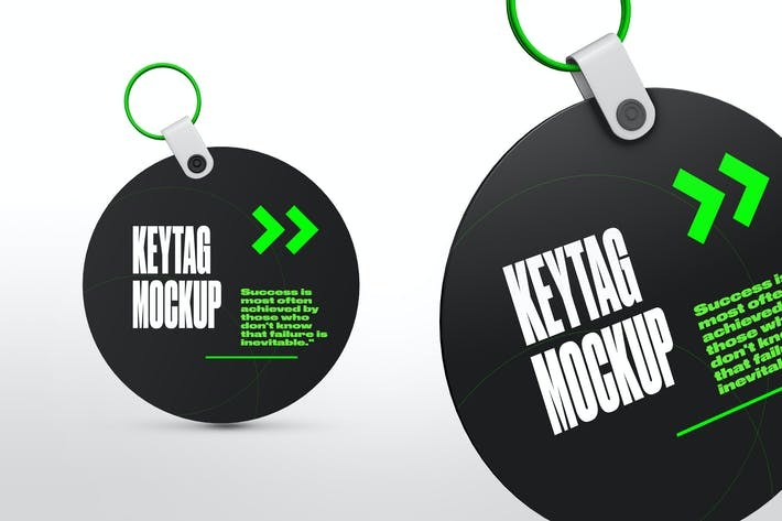 Cover Image For Circle Key Tag Mockups