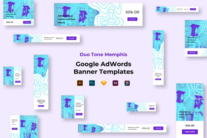 Thumbnail for Education Google Ads Banners