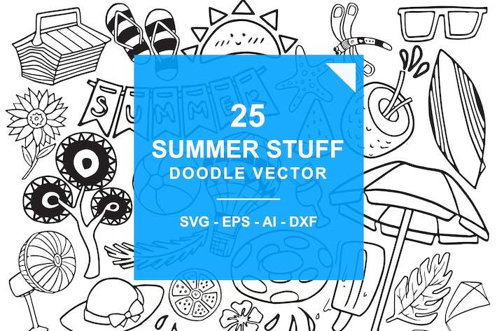 Thumbnail for Summer Stuff Doodle Vector