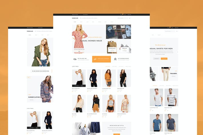 Thumbnail for Groham - Fashion eCommerce PSD template