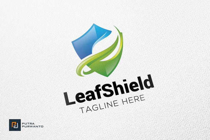 Thumbnail for Leaf Shield - Logo Template