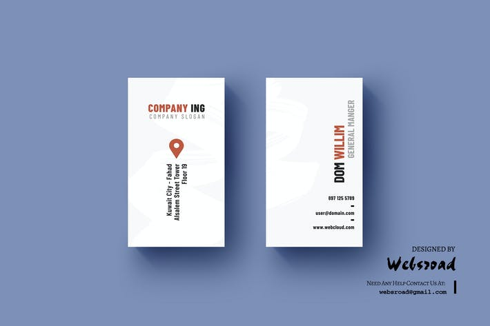 12 portrait layered business card print templates compatible with thumbnail for business card template flashek Gallery