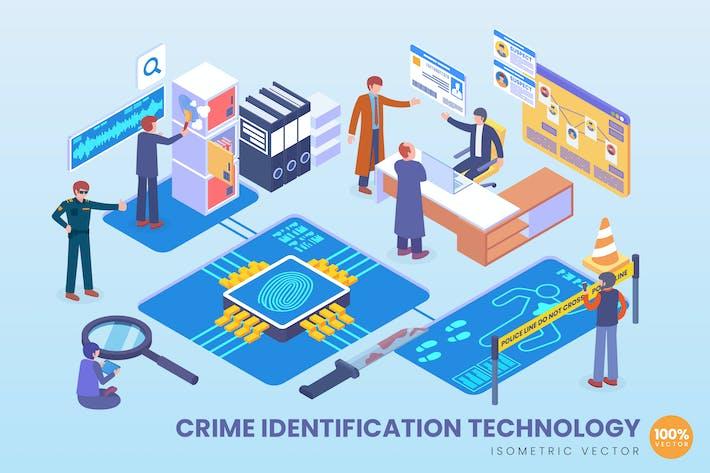 Thumbnail for Vecteur de technologie d'identification de la criminalité isométrique
