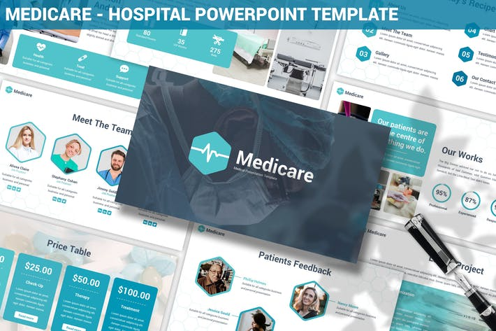 Thumbnail for Medicare - Шаблон Powerpoint больницы