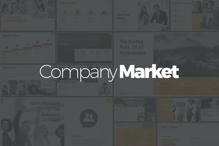 Thumbnail for Company Market Google Slides